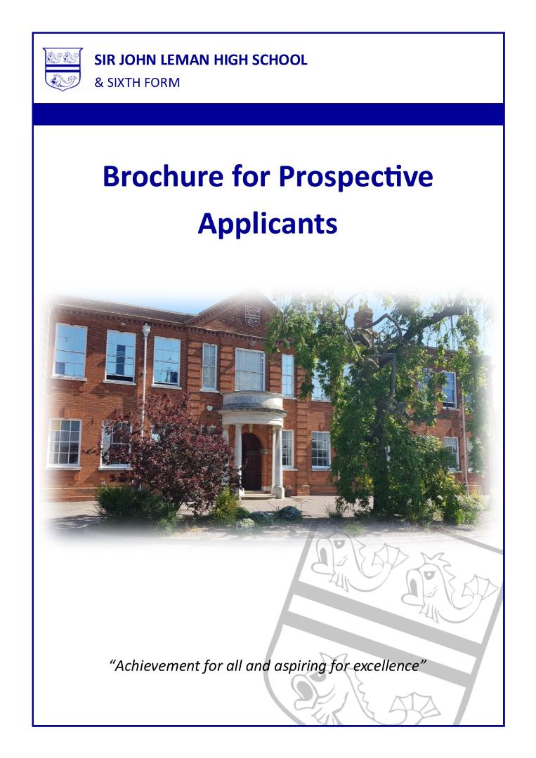 Brochure for Prospective Applicants