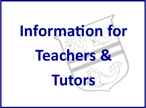 Information for Teachers and Tutors
